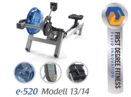First Degree E-520 Rudergerät - Modell 13/14 inkl. Polar Brustgurt und Bodenmatte